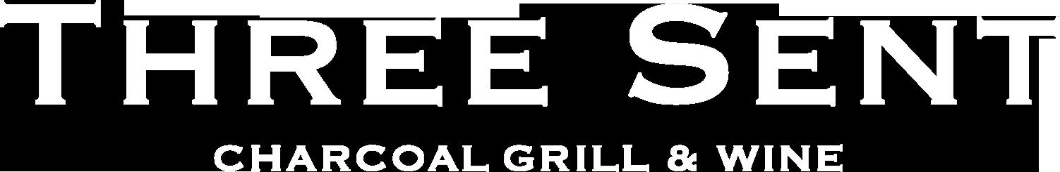 THREE SENT CHARCOAL GRILL&WINE ロゴ
